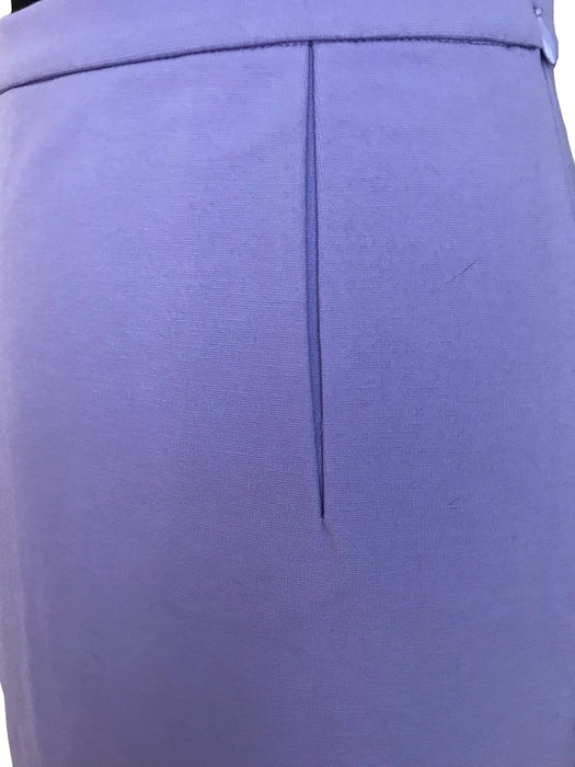 Diane Von Furstenberg DVF Lilac Skirt, Lavender Jersey Pencil Below The Knee Classic Higher Waist Cocktail Career Fitted Skirt New Old Stock