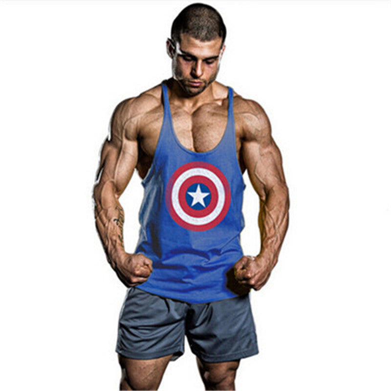 Summer Style Superman Captain America Men\'s Muscle Fitness Tank Top ...