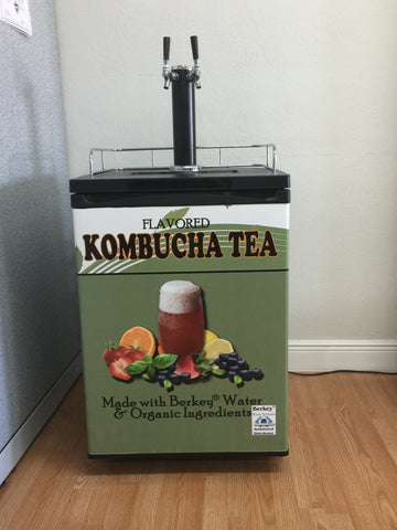 Kombucha Kegerator - Single or Dual Tap