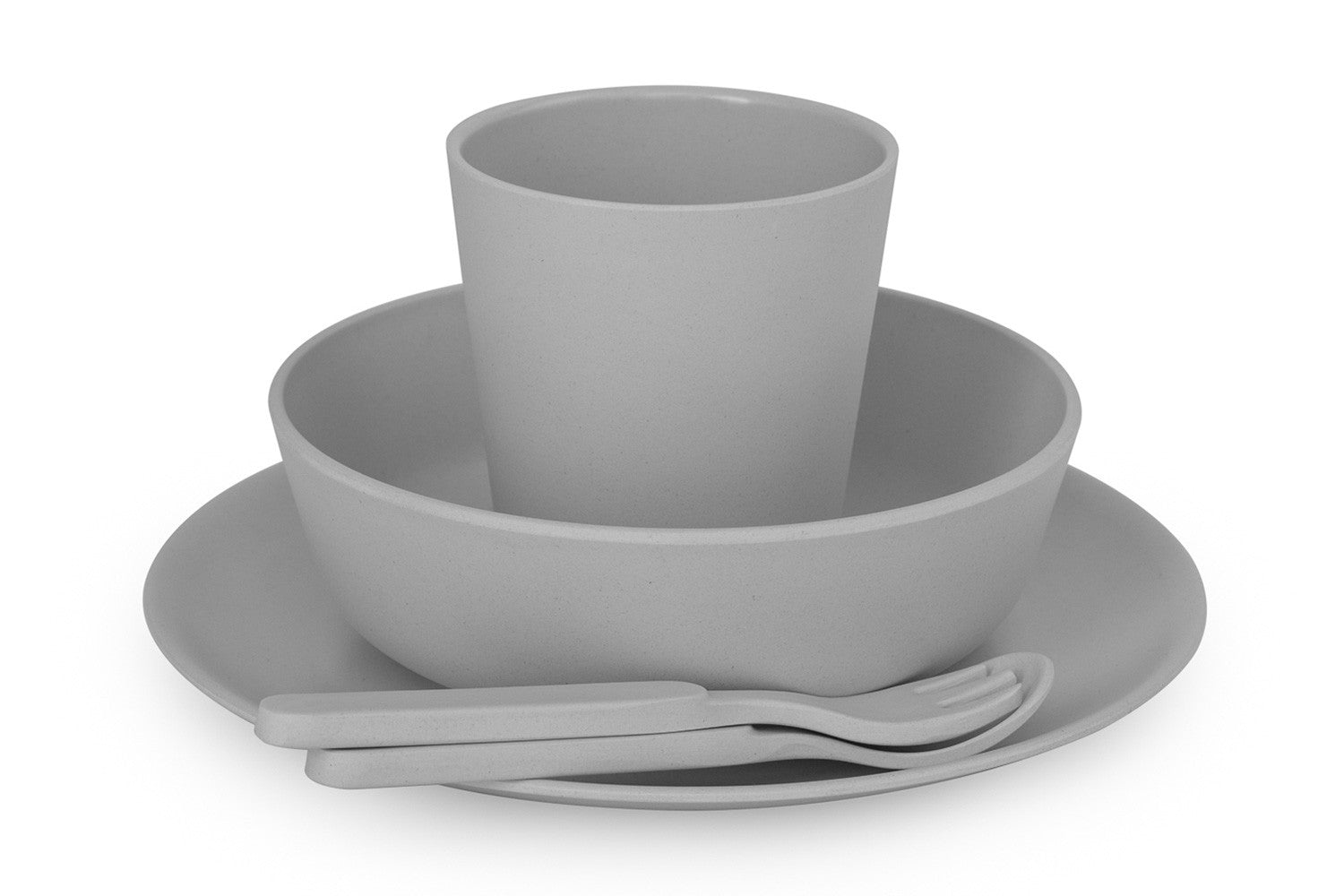 Maggie \u0026 Rose at Home Bamboo Dinnerware Set in ...  sc 1 st  Maggie \u0026 Rose at Home & Bamboo Dinnerware Set in Grey | Maggie \u0026 Rose at Home