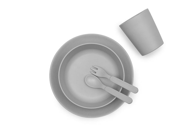 Maggie & Rose at Home Bamboo Dinnerware Set in Grey