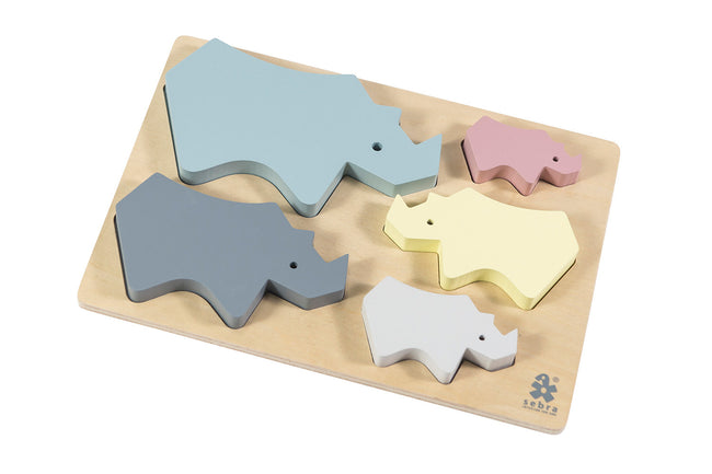 Wooden Chunky Rhino Puzzle