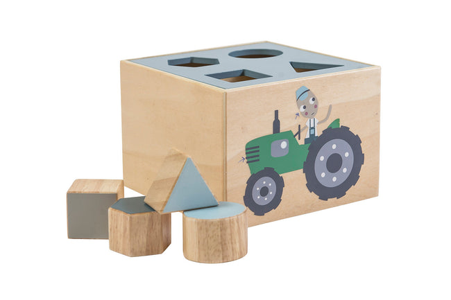 Wooden Farm Shape Sorter | Maggie & Rose at Home
