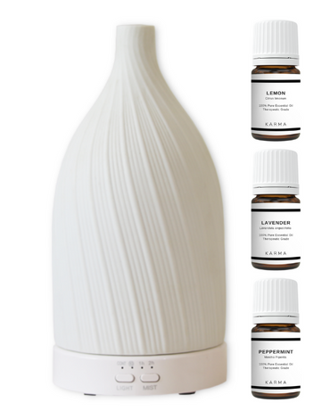 ESSENTIAL OIL INTRO SET - WHITE FLOW DIFFUSER