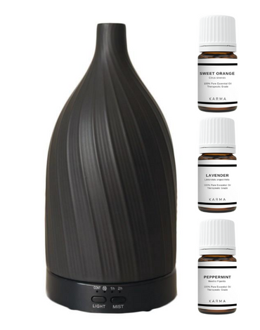 ESSENTIAL OIL INTRO SET - BLACK FLOW DIFFUSER
