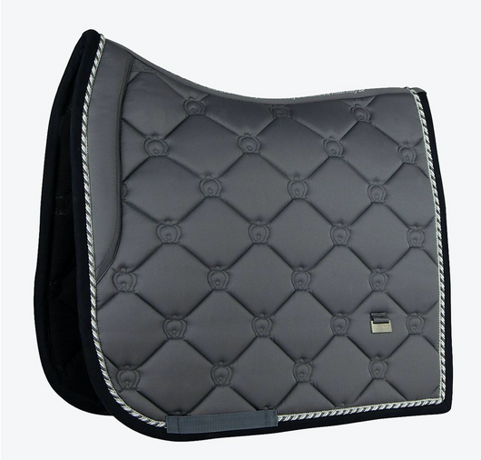 PS OF SWEDEN ANTHRACITE MONOGRAM SADDLE PAD