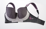 Q-Linn Athens Anthracite Sports Bra