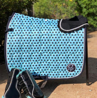QHP Polka Dot Saddle Pad