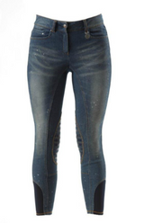 Premier Equine Martina Ladies Gel Denim Breeches