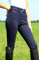 Chillout Navy Full Seat Silicone Breeches