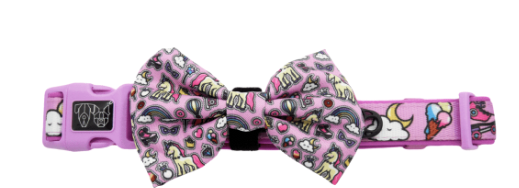BIG AND LITTLE DOGS DOG COLLAR AND BOW TIE -