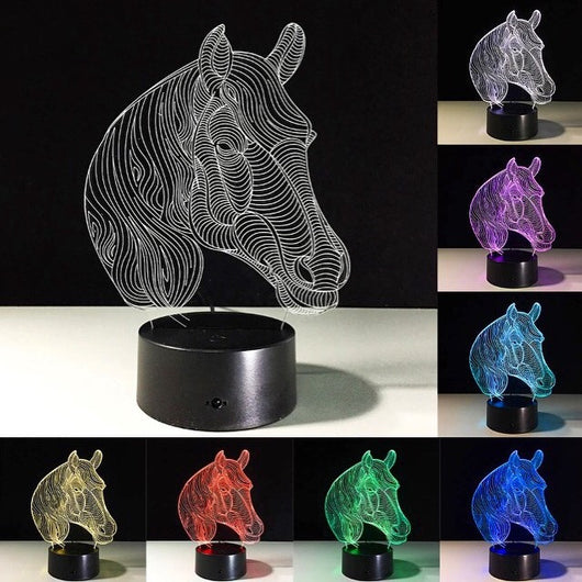 Horse LED night light