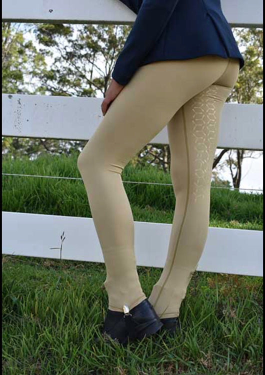 Performa ride BEIGE flexion riding tights