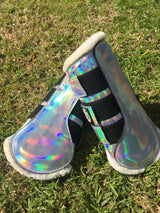 "Holographic""unicorn"" boots 🦄"