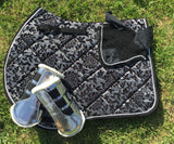 "Black and silver ""vintage"" jump pad"