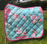 Mint  floral dressage pad