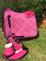 Hot pink dressage saddle pad