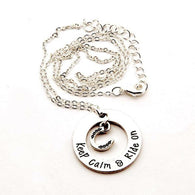 Keep calm and ride on necklace and pendant