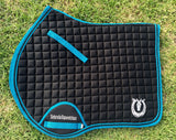 Black with turquoise trim jump pad