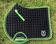 Black and green jump pad