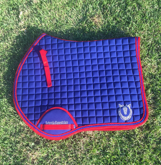 Royal blue and red jump pad