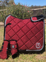 Ruby shimmer dressage/jump pad