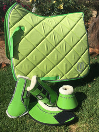 Apple green dressage pad