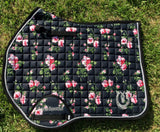 Floral jump Saddle Pad
