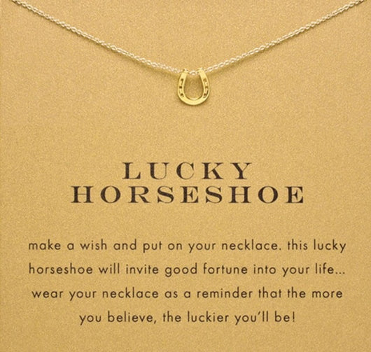 Lucky horse shoe necklace and pendant
