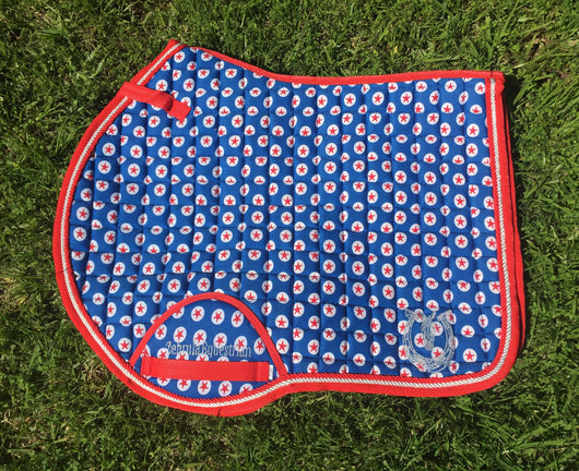 Royal blue star jump pad