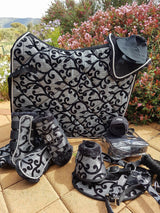 Complete black and silver dressage  set