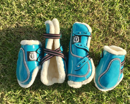 Turquoise jump boots