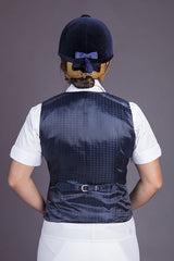 Peter Williams blue check ladies show vest