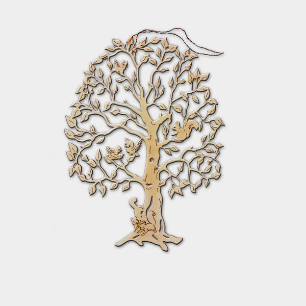Wooden Decorative Hanging Tree