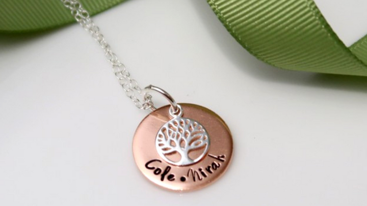 Family Tree Necklaces - Customer Showcase