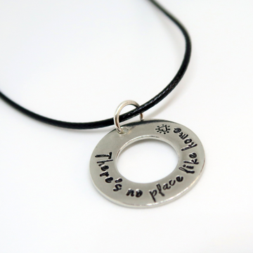 personalised pewter waxed cotton necklet 20 inches uk
