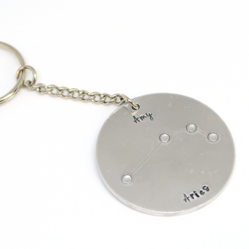 aluminium personalised constellation keyring