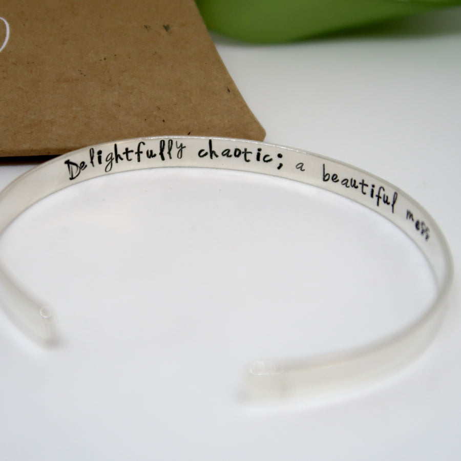 sterling silver cuff bracelet personalised uk inside inscription