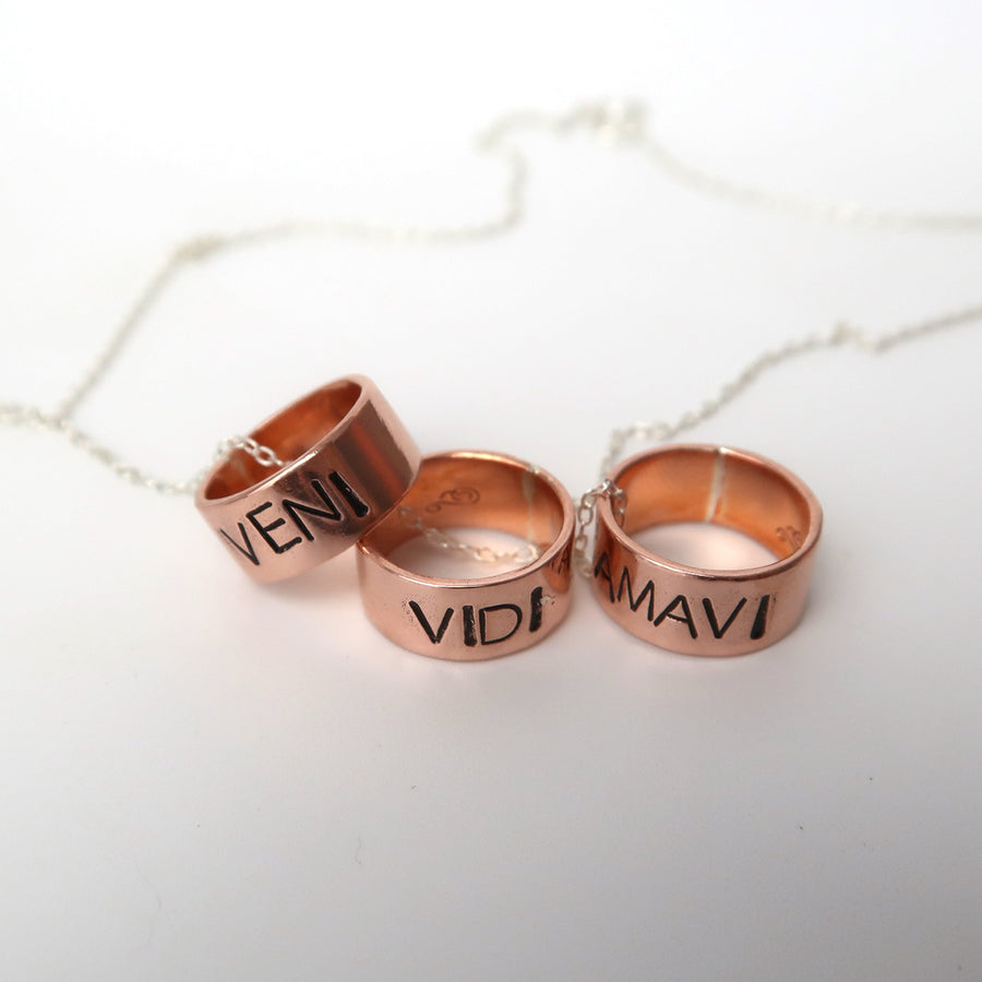 Copper Ring Charm Necklace