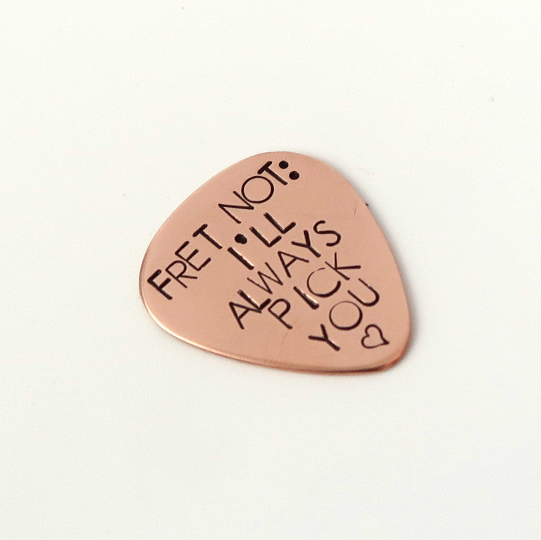 Personalised Copper Guitar Pick