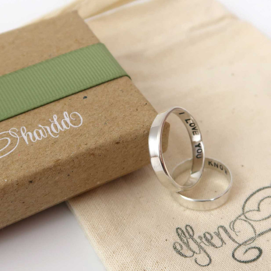 Personalised Silver Couple Rings