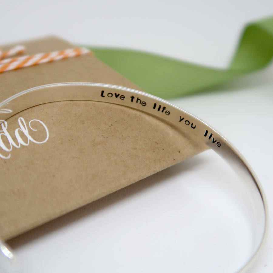 sterling silver cuff bracelet personalised uk inspirational