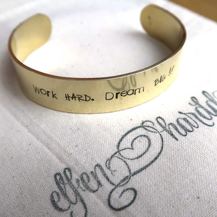 Personalised Brass Cuff Bracelet