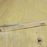 Personalised Sterling Silver Tie Bar