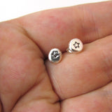Recycled Silver Nugget Earrings