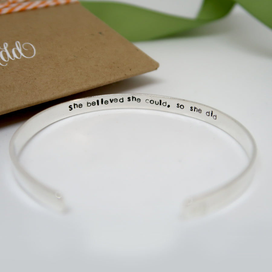 sterling silver cuff bracelet personalised uk secret message