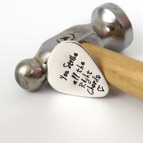 Personalised Sterling Silver Guitar Pick