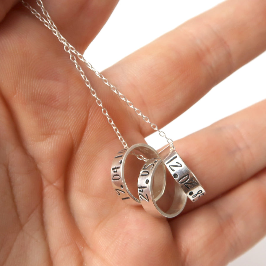 Sterling Silver Ring Charm Necklace