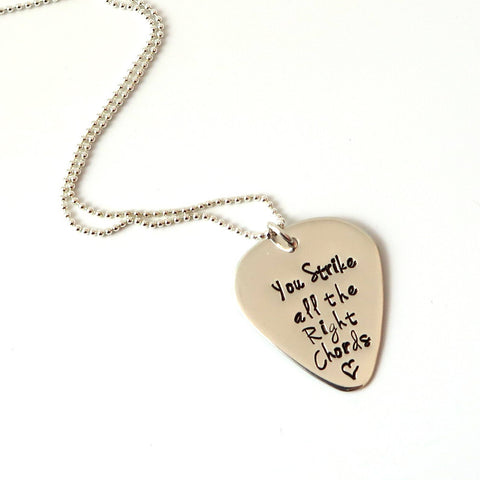 listing zoom fullxfull gift engraved necklace guitar husband pick il boyfriend