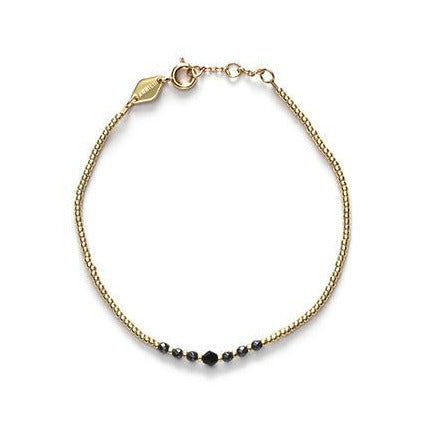 Bead & Gem Bracelet - Black